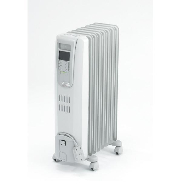 【送料無料】デロンギ オイルヒーター デジタルラディアント ホワイト+ライトグレー KHD410812-LG [KHD410812LG]