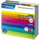 Verbatim データ用DVD-R DL 8.5GB 2-8倍速 インクジェットプリンタ対応 10枚入り DHR85HP10V1