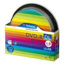 Verbatim データ用DVD-R DL 8.5GB 2-8倍速 スピンドルケース 10枚入り DHR85HP10SV1 [DHR85HP10SV1]