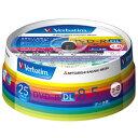 Verbatim データ用DVD-R DL 8.5GB 2-8倍速 インクジェットプリンタ対応 スピンドルケース 25枚入り DHR85HP25V1 DHR85HP25V1