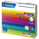 Verbatim データ用DVD+R DL 8.5GB 2.4-8倍速対応 インクジェットプリンタ対応 5枚入り DTR85HP5V1 [DTR85HP5V1]