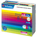 家電, AV, 相機 - Verbatim データ用DVD+R DL 8.5GB 2.4-8倍速 インクジェットプリンタ対応 10枚入り DTR85HP10V1 [DTR85HP10V1]