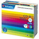 Verbatim データ用CD-R 700MB 48倍速 インクジェットプリンタ対応 10枚入り SR80SP10V1 [SR80SP10V1]