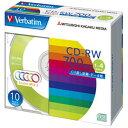 Verbatim データ用CD-RW 700MB 1-4倍速 カラーミックス 10枚入り SW80QM10V1 SW80QM10V1 【SEPP】