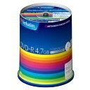 Verbatim データ用DVD-R 4.7GB 1-16倍速対応 インクジェットプリンタ対応 100枚入り DHR47JP100V3 [DHR47JP100V3]