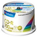 Verbatim データ用CD-R 700MB 48倍速対応 インクジェットプリンタ対応 50枚入り SR80FP50V2 [SR80FP50V2]