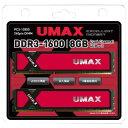 【送料無料】UMAX デスクトップ用メモリ(8GB) CETUS DCDDR3-8GB-1600 [CETUSDCDDR38GB1600]【SPOA】