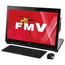 【送料無料】富士通 一体型デスクトップパソコン Kual シャイニーブラック FMVW77WBG [FMVW77WBG]