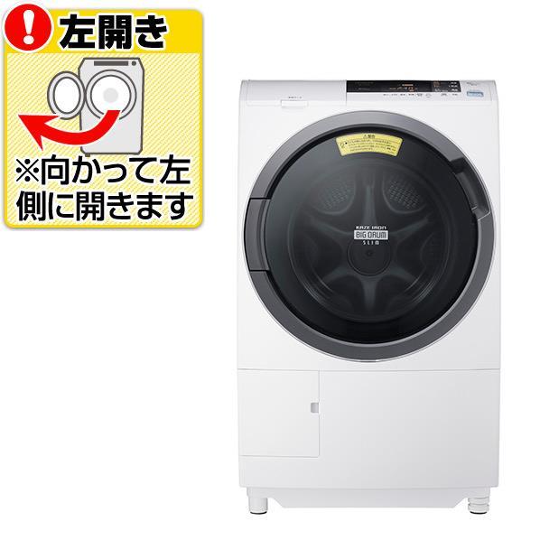 【送料無料】日立 【左開き】10.0kgドラム式洗濯乾燥機 ビッグドラム スリム ピュアホワイト BD-S3800L W [BDS3800LW]【KK9N0D18P】
