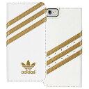 adidas ブックレットタイプカバーケース iPhone 6用 ホワイト/ゴールド 18301 [18301]