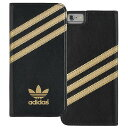 adidas ブックレットタイプカバーケース iPhone 6用 ブラック/ゴールド 19091 [19091]【KK9N0D18P】【10P03Dec16】