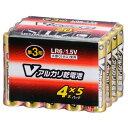 オーム電機 単3形Vアルカリ乾電池 20本パック LR6/S20P/V [LR6S20PV]