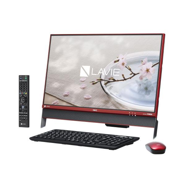 【送料無料】NEC 一体型デスクトップパソコン Kual LAVIE Desk All-in-one クランベリーレッド PC-DA370DAR-E3 [PCDA370DARE3]