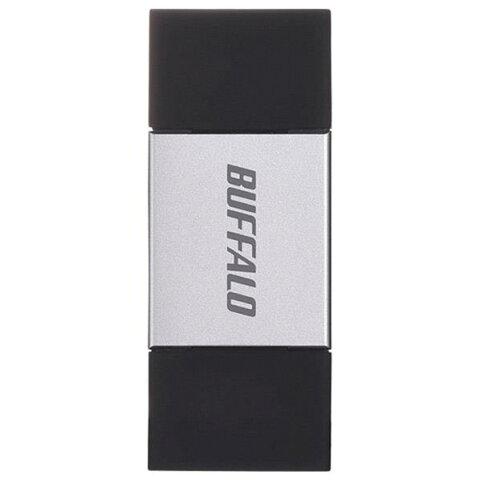 【送料無料】BUFFALO × USB3.0対応 USBメモリー(32GB) シルバー RUF3-AL032G-SV [RUF3AL032GSV]【KK9N0D18P】