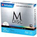 Verbatim データ用25GB 1-4倍速対応 BD-R追記型 ブルーレイディスク 5枚入り M-DISC VBR130YMDP5V1 ...