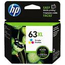 ヒューレット・パッカード(HP) HP 63XL純正インクカートリッジ (大容量) 3色 F6U63AA [F6U63AA]