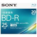 SONY 録画用25GB 1層 1-6倍速対応 BD-R追記型 ブルーレイディスク 20枚入り 20BNR1VJPS6 20BNR1VJPS6