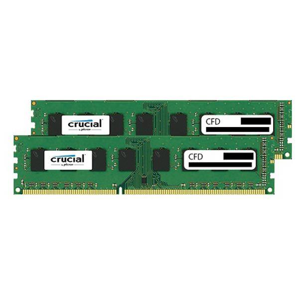 【送料無料】CFD DDR3-1600対応 デスクトップPC用メモリ 240pin DIMM(4GB×2枚組) CFD Selection Crucial by Micron W3U1600CM-4G [W3U1600CM4G]