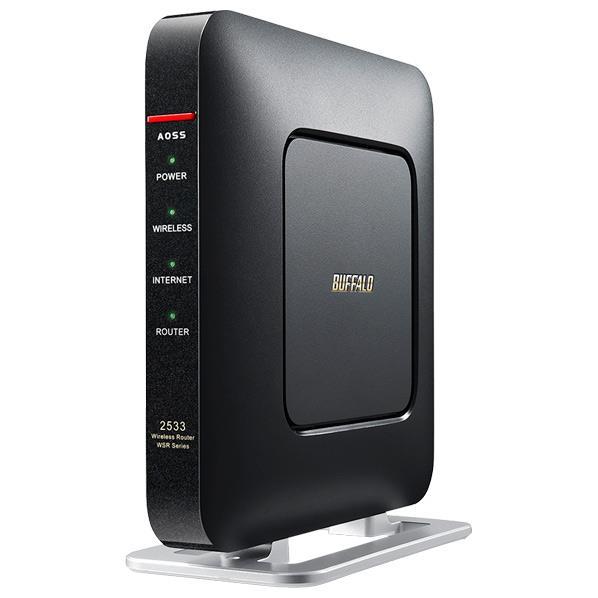 【送料無料】BUFFALO 11ac/n/a/g/b 1733+800Mbps 無線LAN親機 エアステーション クールブラック WSR-2533DHP-CB [WSR2533DHPCB]【KK9N0D18P】【RNH】