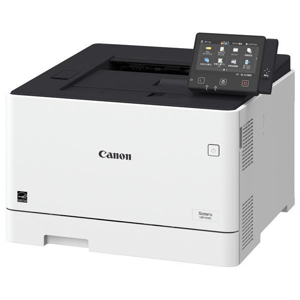 【送料無料】キヤノン カラーレーザービームプリンター SATERA LBP654C [LBP654C] 連続出力27枚/分でTEC値1.0kWhを実現。両面印刷や無線LAN、タッチパネル搭載など機能性も充実。