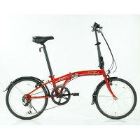 【送料無料】OTOMO 20インチ折りたたみ自転車 SUV D6 DAHON レッド BAT06RED [BAT06RED]の画像