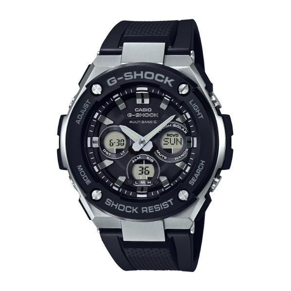 カシオ ソーラー電波腕時計 G-SHOCK ブラック GST-W300-1AJF [GSTW3001AJF]