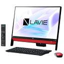 【送料無料】NEC 一体型デスクトップパソコン LAVIE Desk All-in-one ラズベリーレッド PC-DA370KAR PCDA370KAR 【RNH】