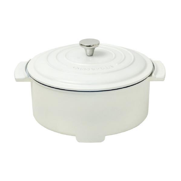 山善 電気グリル鍋 Casserolle ホワイト YGC-800-W [YGC800W]【RNH】