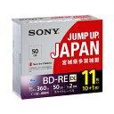 SONY 録画用50GB(2層) 2倍速対応 BD-RE ブルーレイディスク 11枚入り 11BNE2VPPS2 [11BNE2VPPS2]