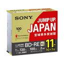 SONY 録画用100GB(3層) 2倍速対応 BD-RE ブルーレイディスク 11枚入り 11BNE3VNPS2 [11BNE3VNPS2]
