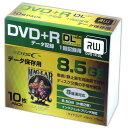 HI DISC HIDISC DVD+RDL 8倍速対応 8.5GB 1回データ記録用 インクジェットプリンタ対応10枚 スリムケース入り HDD+R85HP10SC