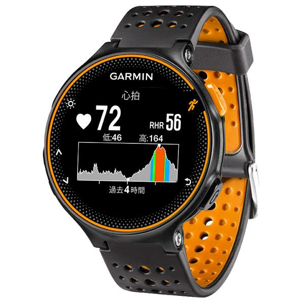 GARMIN GPSランニングウォッチ フォアスリート ブラック/オレンジ 37176J [FA235JBKOR]