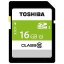 東芝高速SDHCUHS-1メモリーカード(Class10対応・16GB)SDBR48N16G[SDBR48N16G]
