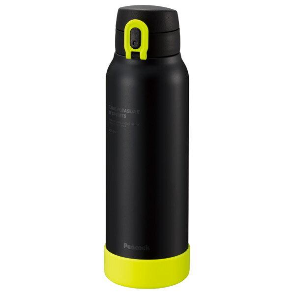 ピーコック ステンレスボトル マグタイプ 0.8L ブラックイエロー