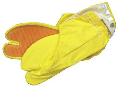カラー足袋(ゴム底)4枚コハゼ 黄22.0〜26.0cm