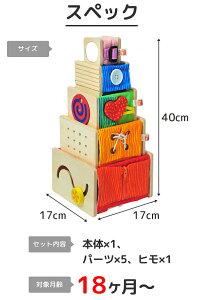 知育玩具 木のおもちゃ トレーニングキューブ アイム