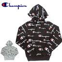 チャンピオン Champion プルオーバーパーカー PULLOVER HOOD メンズ ロゴ 総柄 S2974 大きいサイズ