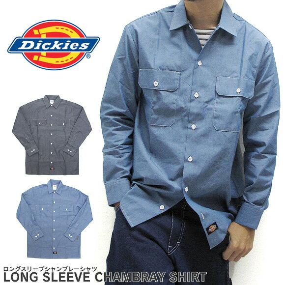 【2枚以上で送料無料】ディッキーズ Dickies シャンブレー ワークシャツ 長袖 WL509