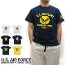 エントリーでポイント10倍U.S. AIR FORCE ユーエスエアフォース Tシャツ 半袖 RANDOLPH A.F.BASE TEXAS アメリカ軍 米軍 ...
