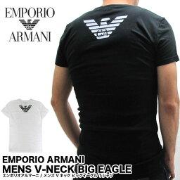 EMPORIO ARMANI エンポリオアルマーニ Vネック イーグルプリント Tシャツ 半袖 メンズ 【メール便対応】02P03Dec16