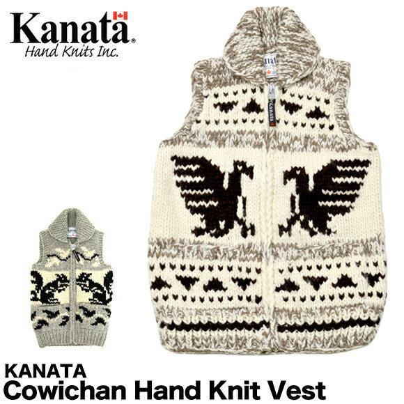 【送料無料】KANATA カナタ ベスト カウチン ハンドニット ベスト 【レディース】 Cowichan Hand Knit Vest【返品交換不可】