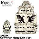 【送料無料】KANATA カナタ ベスト カウチン ハンドニット ベスト 【レディース】 Cowichan Hand Knit Vest【返品交換不可】【MA03】