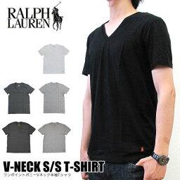 【メール便配送】<strong>ラルフローレン</strong> Tシャツ POLO RALPH LAUREN RL66 Vネック 半袖 無地 メンズ