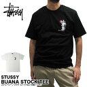 ステューシー STUSSY Tシャツ 1904004 ブアナ ストックロゴ 半袖Tシャツ BUANA STOCK TEE ストリート B系 ダンス スケーター 男性用 女性用 メンズ レディース メール便対応 02P03Dec16