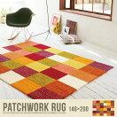�饰�ޥå� Patchwork rug �饰�ޥåȡ�140��200��