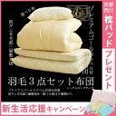 【キャンペーン中 西川 枕パッド付き】羽毛 布団セット プレ...
