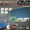 【送料無料】立川機工 日本製 遮光2級 防炎 ロールスクリーン(TKWindows TIORIO)全5色
