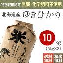 【送料無料】特別栽培米(農薬・化学肥料不使用)28年産 北海道産ゆきひかり [お米 玄米 10kg]※放射能検査・残留農薬検査(検出なし)