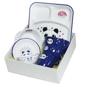 Yamanaka 漆器兒童餐具朋友和同事設置 haguma 熊貓微波爐,洗碗機,機器,陶瓷餐具,吃早午餐 TRA,設置) 001 2722 c