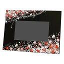 蒔絵デジタルフォトフレーム 花束 黒 001-1243(漆器、記念品、お土産、海外向けギ